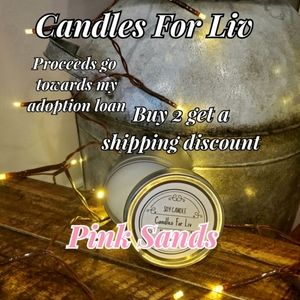 New Homemade Soy Candle Pink Sands